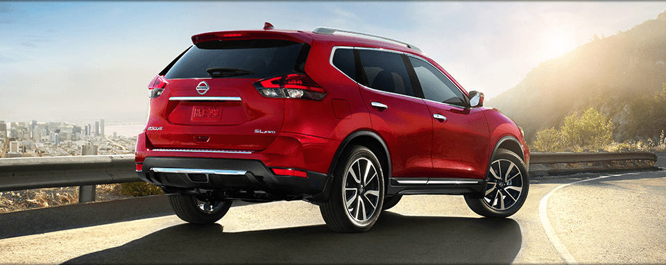 Rear View of Red Nissan Rogue Available in Gallatin, TN