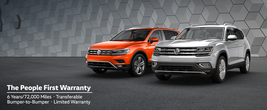 2018 Volkswagen Tiguan & Atlas — The People's First Warranty | 6 Years/72,000 Miles • Transferable • Bumper-to-Bumper • Limited Warranty