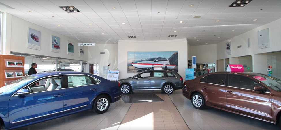 Baxter Volkswagen Westroads interior dealership image